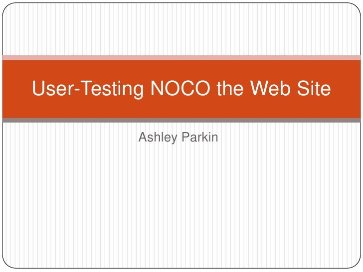 User Testing NOCO the Web Site
