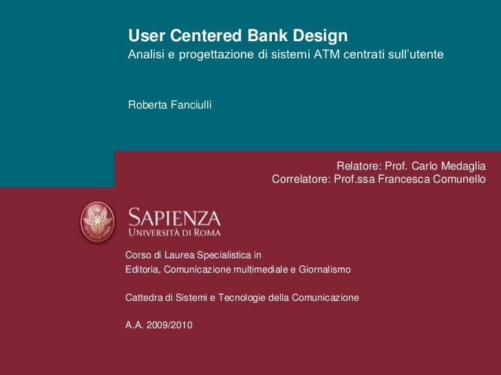 User centered bank design_Roberta Fanciulli