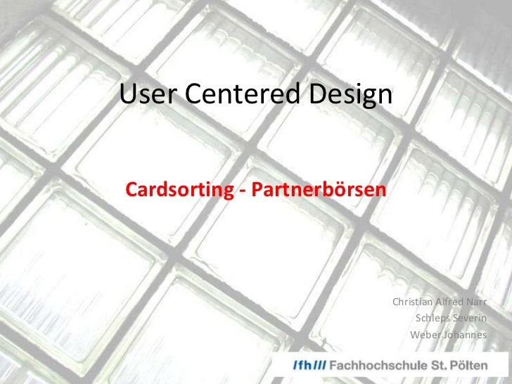 User centered design - Personas