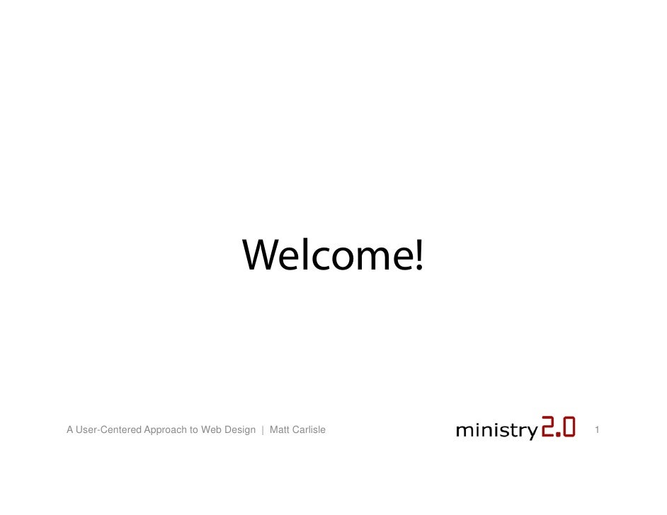 Ministry 2.0: User Centered Website Design | Matt Carlisle