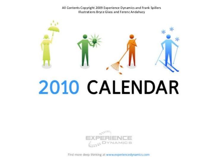User Experience Calendar 2010