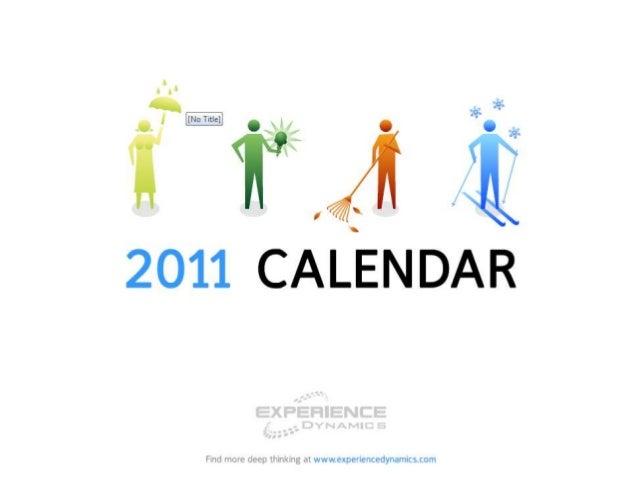 User experience calendar  2011