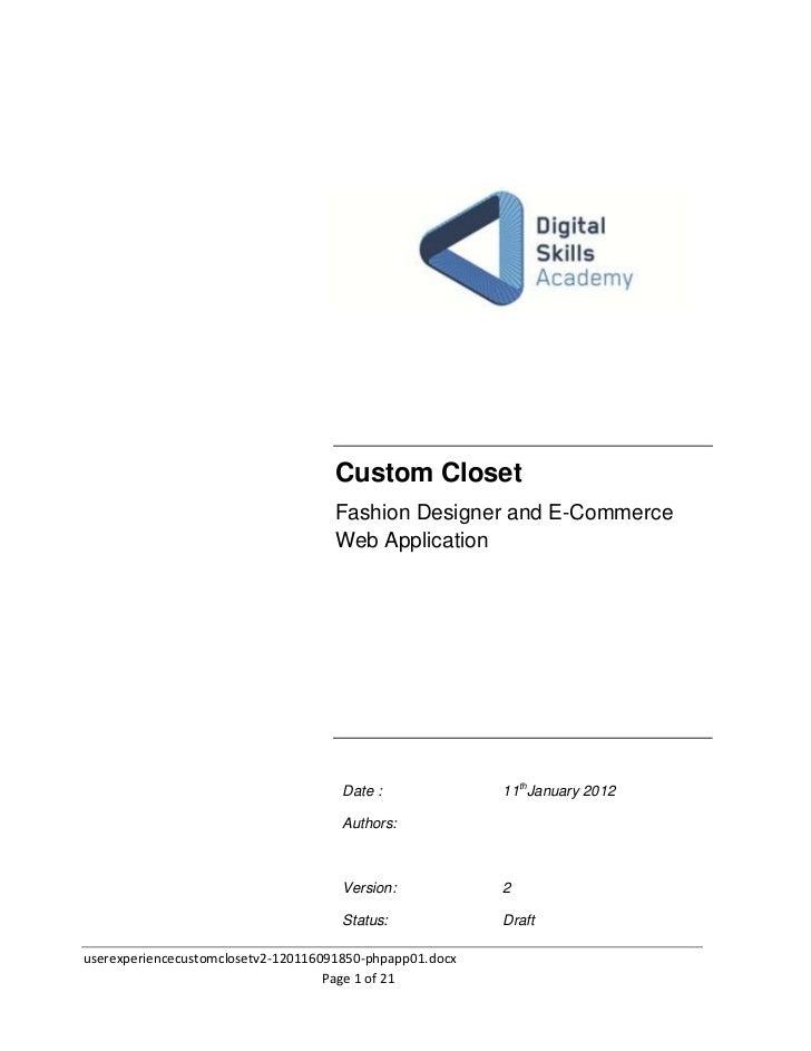 User Experience Custom Closet v2