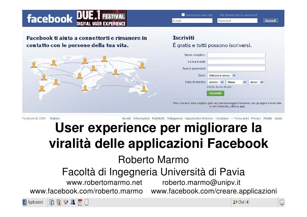 Università di Pavia_User Experience Facebook