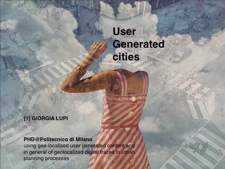G.Lupi, User generated cities