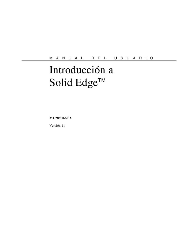 User guide solid edge