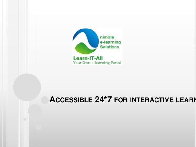 ACCESSIBLE 24*7 FOR INTERACTIVE LEARN