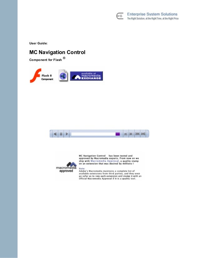 User Guide:MC Navigation Control                      ®Component for Flash