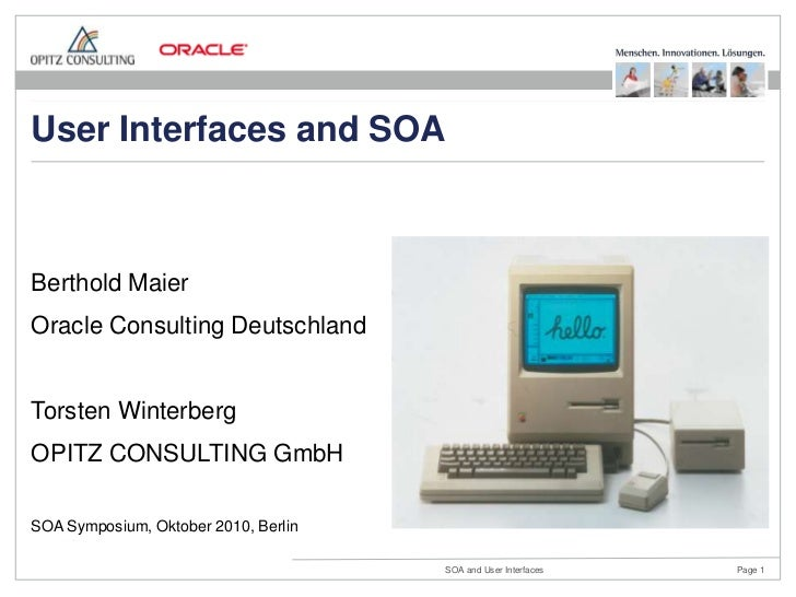 User Interfaces and SOA - OPITZ CONSULTING - Maier - Winterberg