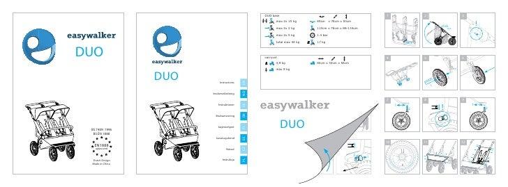 easywalker duo user manual Czech