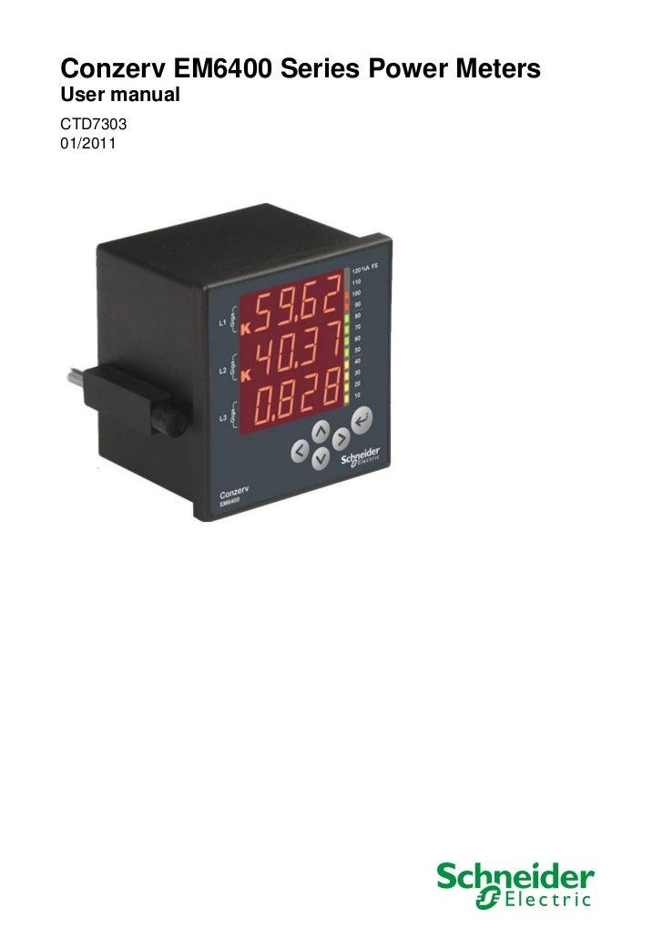 Conzerv EM6400 Series Power MetersUser manualCTD730301/2011