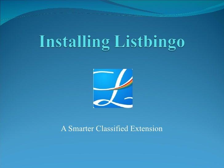 Listbingo Installation