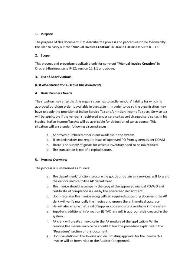 sample oracle payable user manual