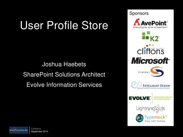 SharePoint 2010 - User Profile Store