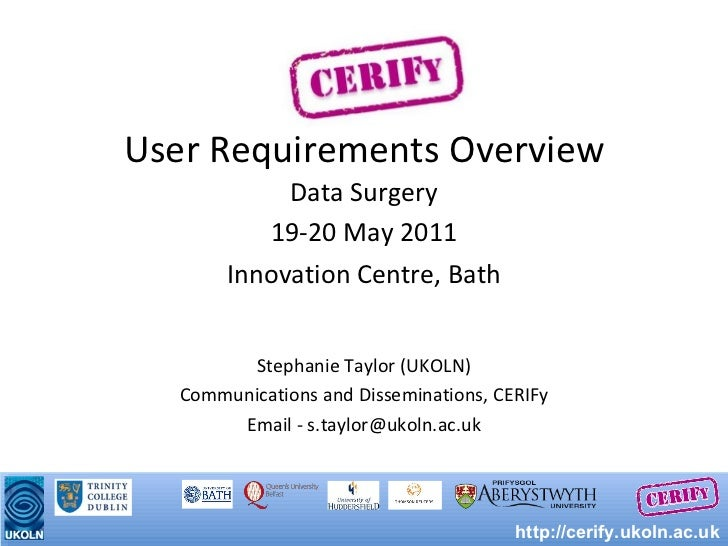User Requirements Overview