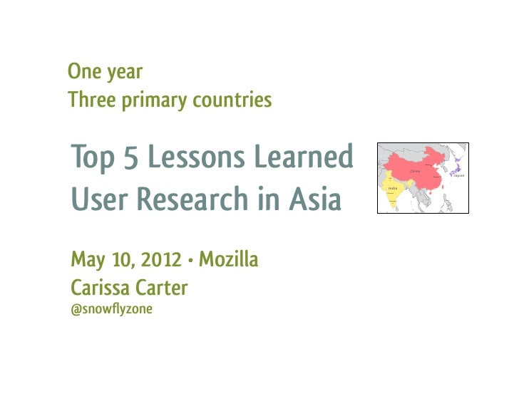 Top 5 Lessons Learned - User Research in Asia