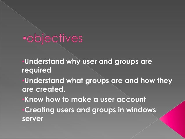 Users and groups in xp