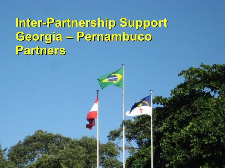 Inter-Partnership Support Georgia – Pernambuco Partners