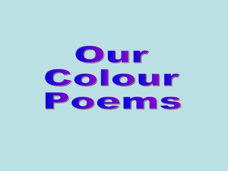 Our Colour Poems