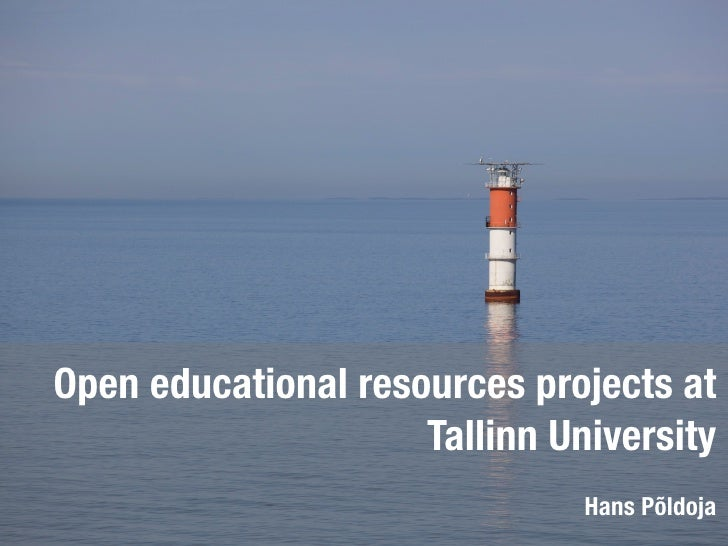 Open educational resources projects at Tallinn University