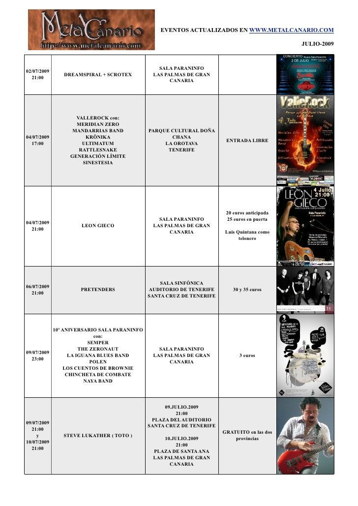 EVENTOS ACTUALIZADOS EN WWW.METALCANARIO.COM                                                                              ...