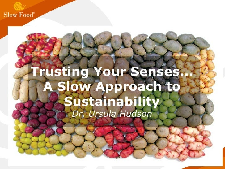 Trusting Your Senses... A Slow Approach to Sustainability Dr. Ursula Hudson