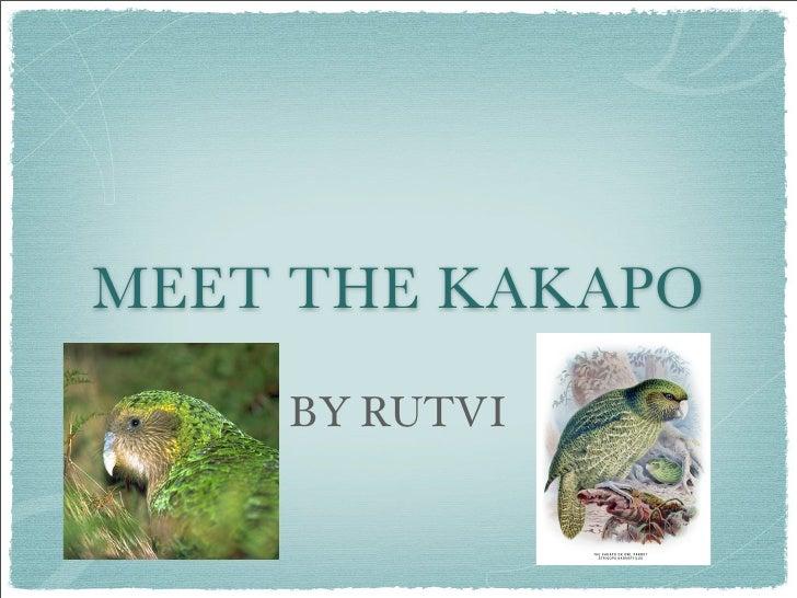 Kakapo Keynote