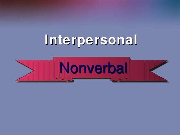 Interpersonal Nonverbal