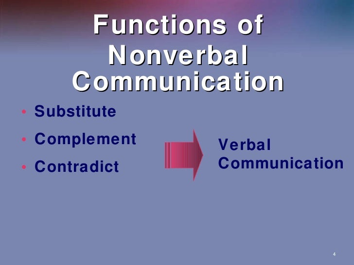 functions of non verbal communications Study 9 functions of non-verbal communication flashcards from miah f on studyblue.
