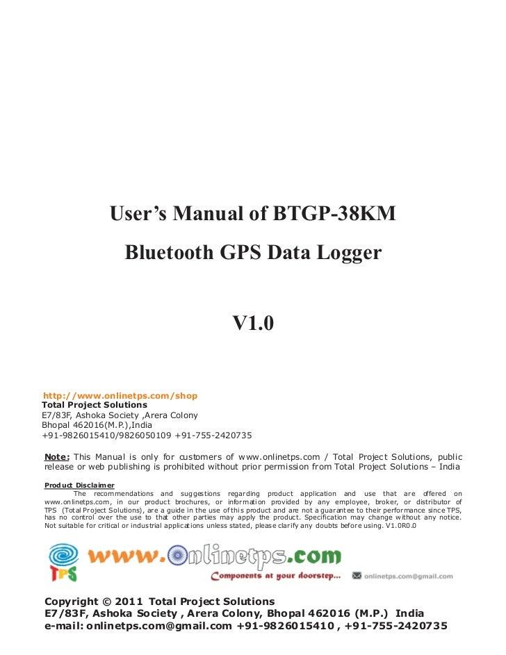 User's manual of btgp 38 km v1.0 www.onlineTPS.com
