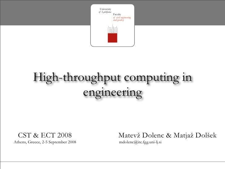 High-throughput computing in engineering