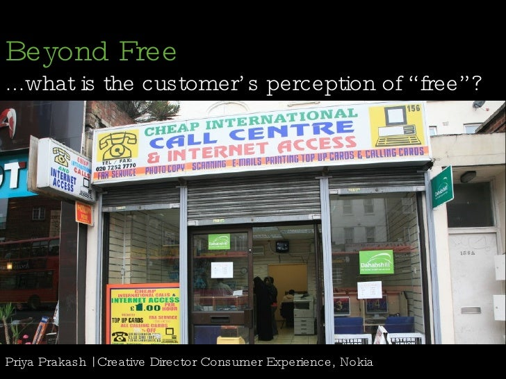 """Beyond Free: ...what is the customer's perception of """"free""""?"""