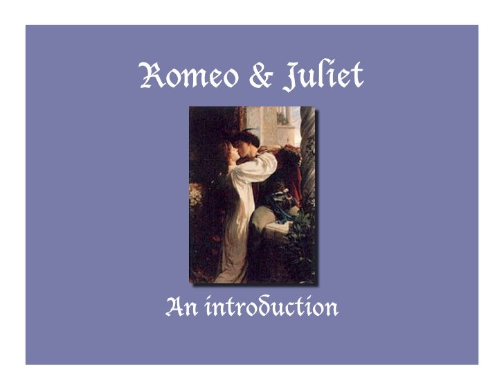 Introduction paragraph for romeo and juliet