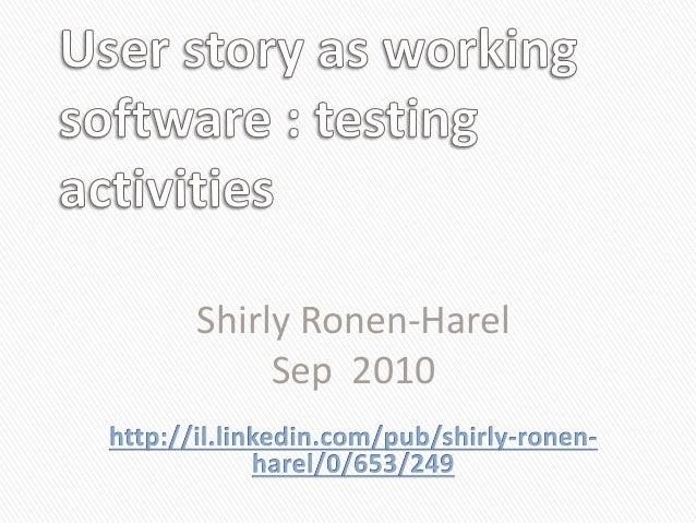 Shirly Ronen-Harel Sep 2010