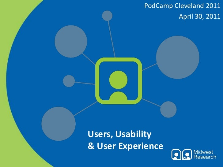 Users, Usability & User Experience - at PodCamp Cleveland 2011