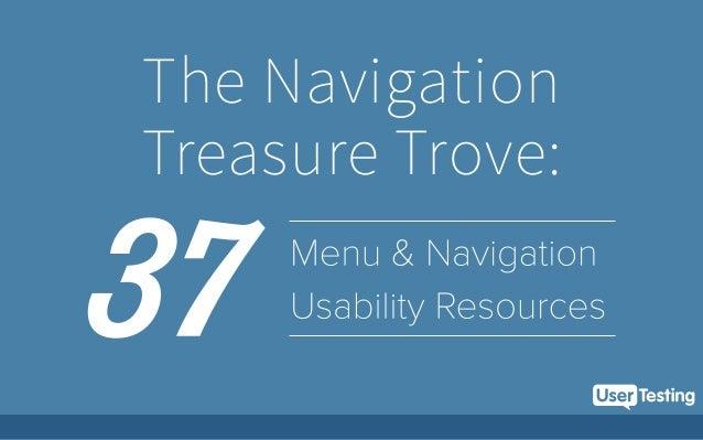 UserTesting's Navigation Treasure Trove: Menu Usability Resources