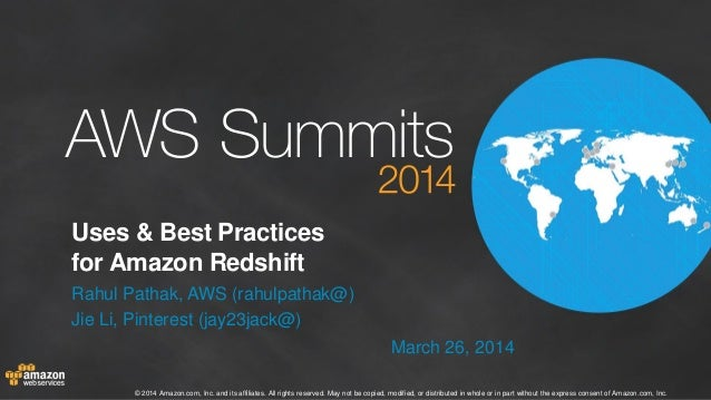 Uses and Best Practices for Amazon Redshift