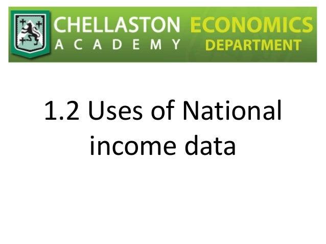 1.2 Uses of National income data
