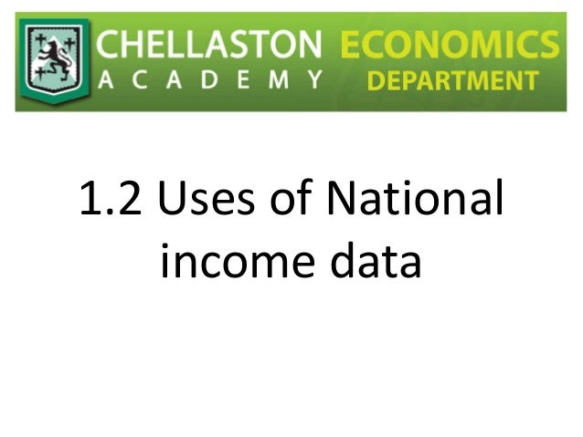 Uses of national income data