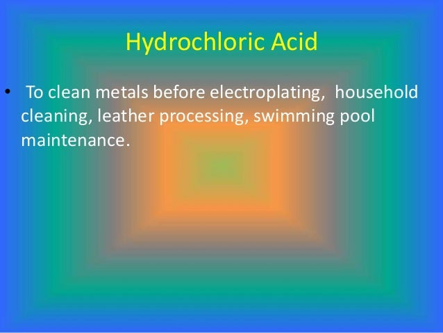 Uses Of Various Acids In Daily Life And Industry