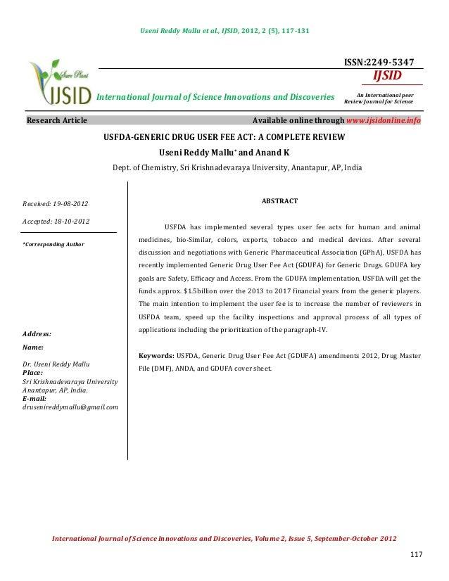 Useni Reddy Mallu et al., IJSID, 2012, 2 (5), 117-131                                                                     ...