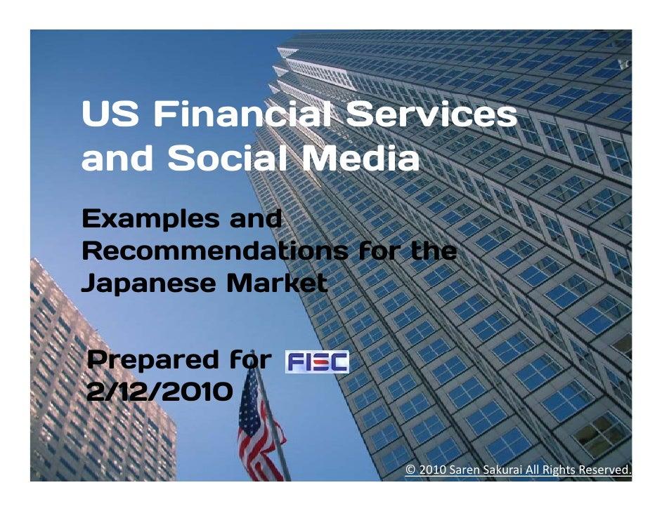 US Financial Services Social Media Examples