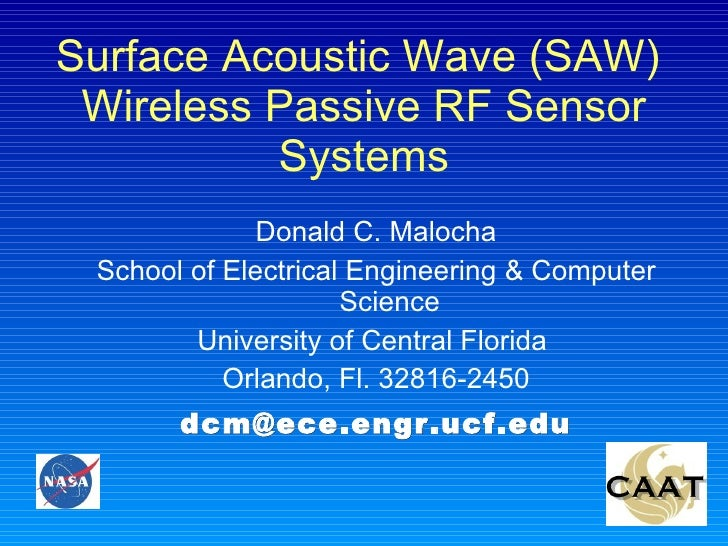 UCF Wireless SAW Sensor Systems