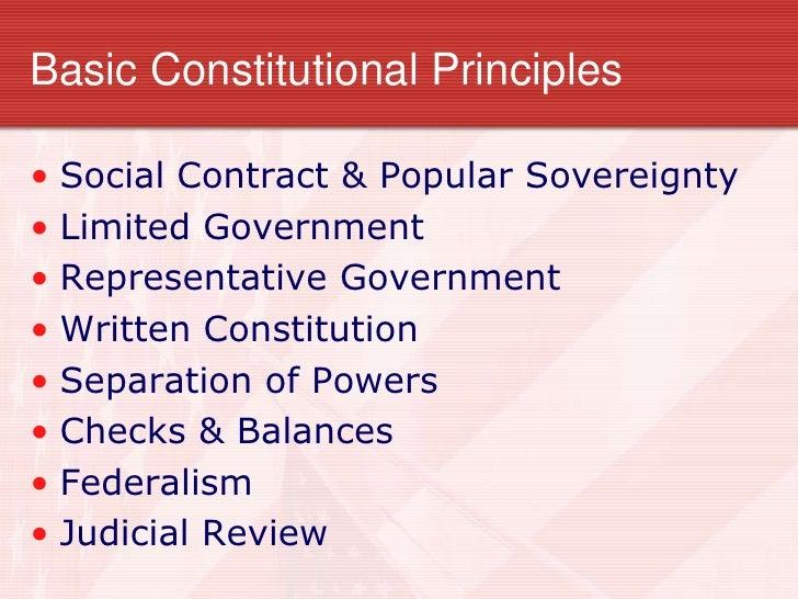 3 basic constitutional principles essay