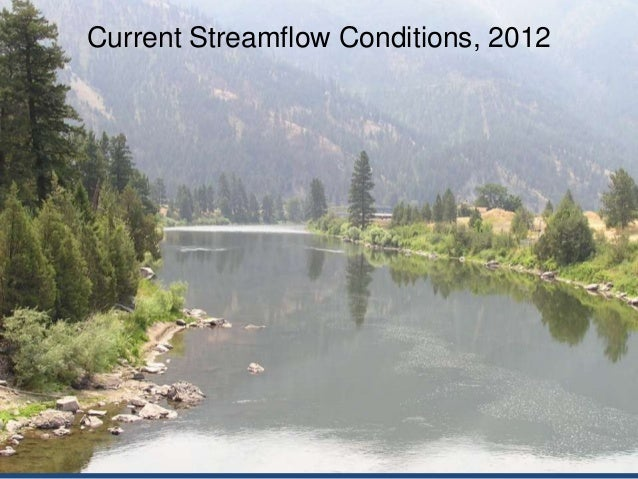 Current Streamflow Conditions, 2012