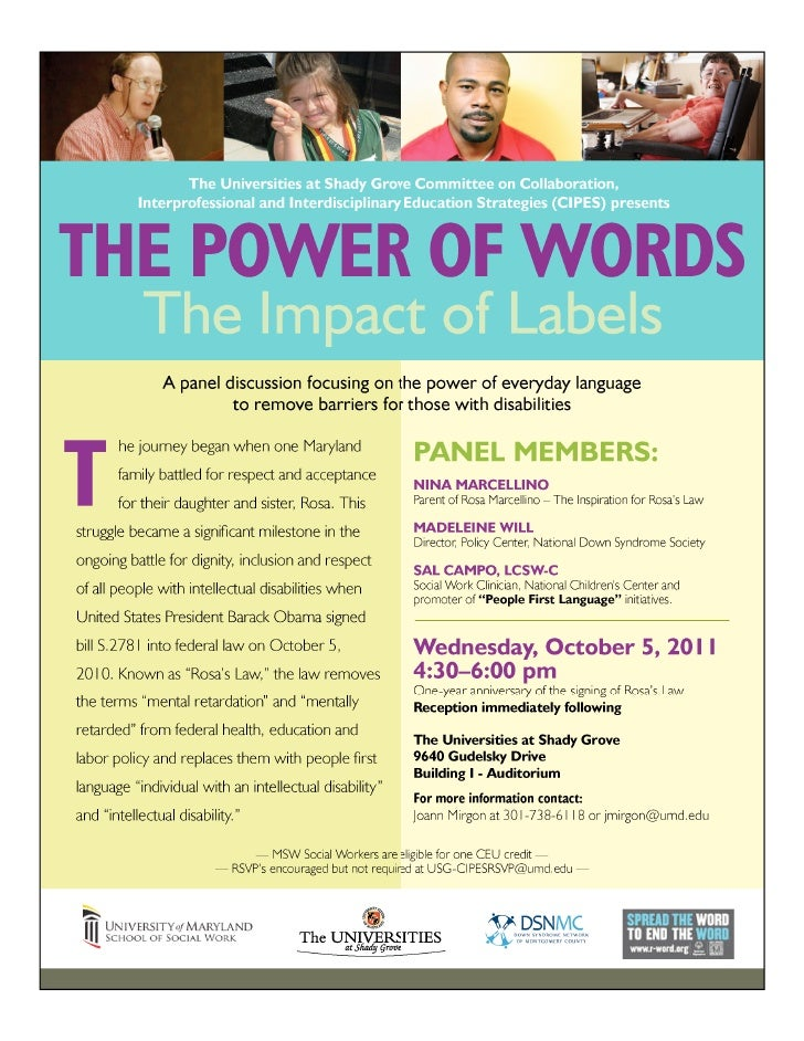 Usg the power of words 2011 flyer