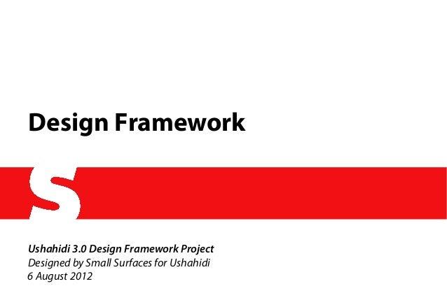 Ushahdi 3.0 Design Framework