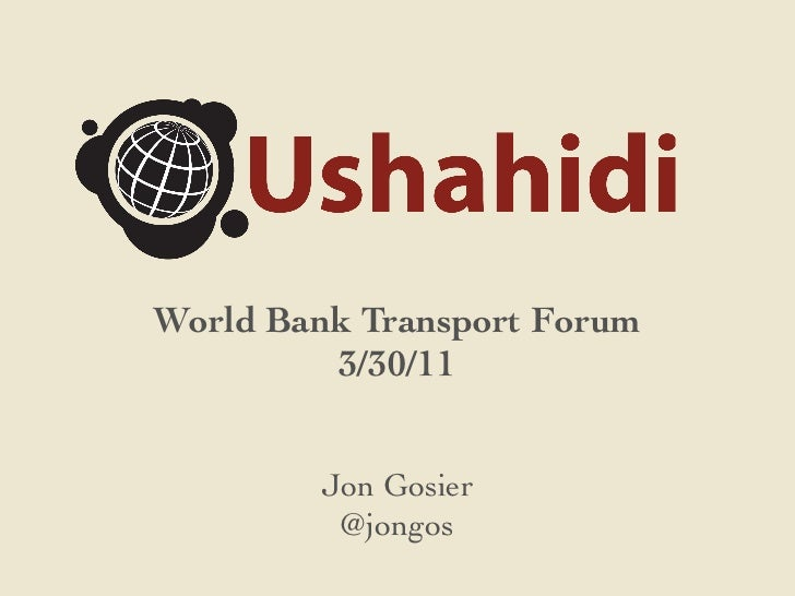 Ushahidi and Crowdmap Checkins