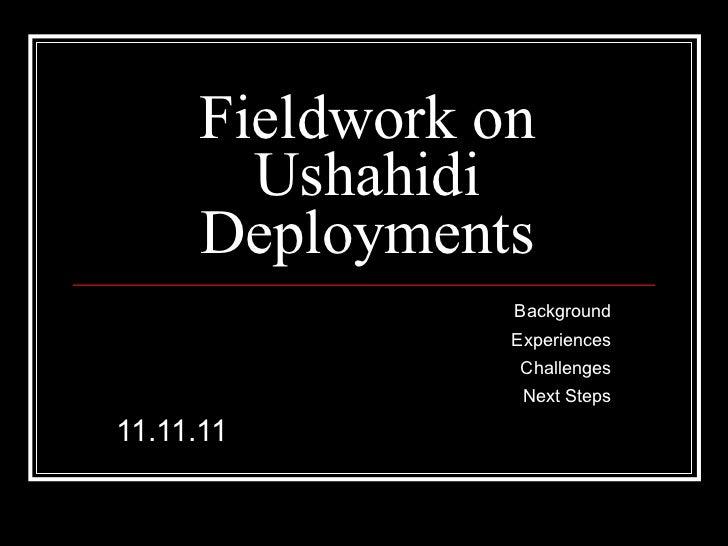 Ushahidi Research Seminar 11.11.11