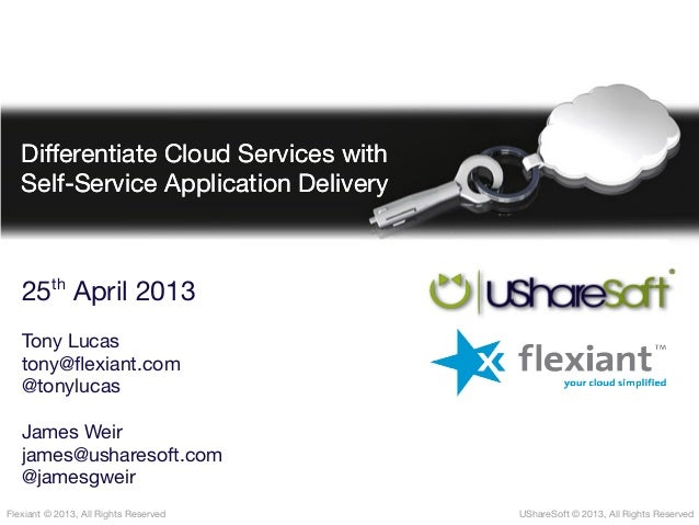 Differentiate Cloud Services with Self-Service Application Delivery